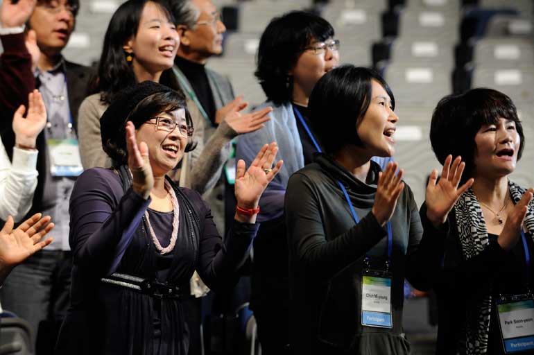 Singing at the World Council of Chuches in Korea